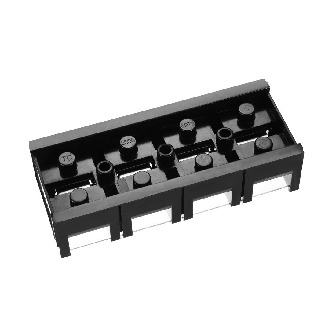 uxcell 2pcs 600V 25A 6 Position Double Row Covered Screw Terminal Barrier Blocks Connector TB2506 a16080100ux0076