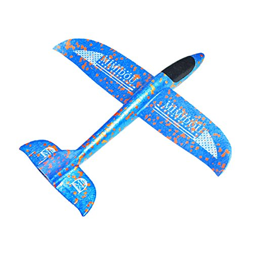 New AEROBATIC AIRPLANE 2 flight mode glider aircraft throwing foam air plane inertia toy model outdoor sports flying toy for kids as gift,by MIMIDOU . - Foam Glider