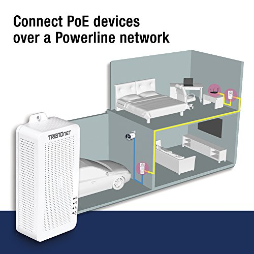 TRENDnet Powerline 200 AV PoE+ Adapter, PoE+ Output Port Supports PoE (15.4W) and PoE+ (30W) Devices, Range up to 300m (984 ft.), TPL-331EP by TRENDnet (Image #3)