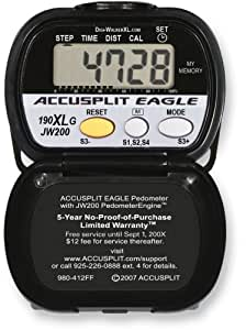 Accusplit AE190XLG Goal Setting Pedometer