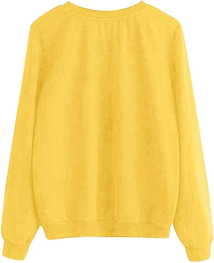 Songqiang Größe Frauen Herbst Und Winter Katze Hoodie Rundhals Langarm-Sweatshirt Super Dalian Hoodie Lässig Gelb