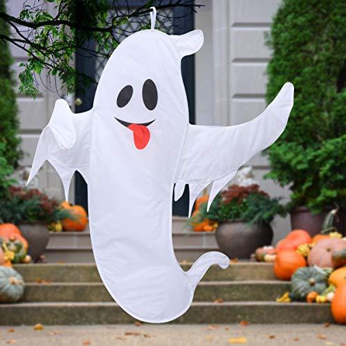 Ghosts Of Halloween (Unomor Halloween Decorations Outdoor, Super Large Halloween Ghost Decorations for Tree with Easy Hanging Lanyard - 59)