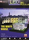 models of white house - White House 3D Puzzle with LED Lights 56 Pieces