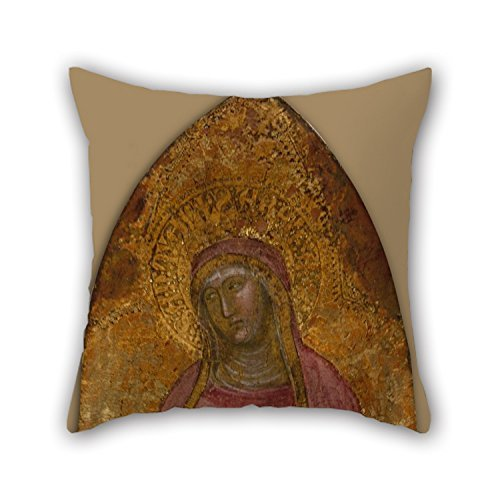 - Oil Painting Andrea Da Firenze - Saint Elizabeth Of Hungary Pillow Cases Best For Outdoor Lounge Deck Chair Couples Him Husband 18 X 18 Inches / 45 By 45 Cm(two Sides)