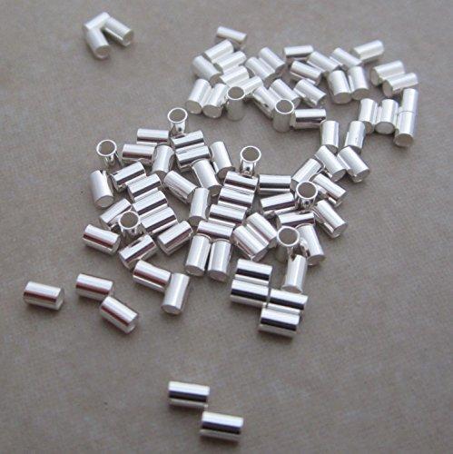 50 Sterling Silver Crimp Beads 3mm X 2mm