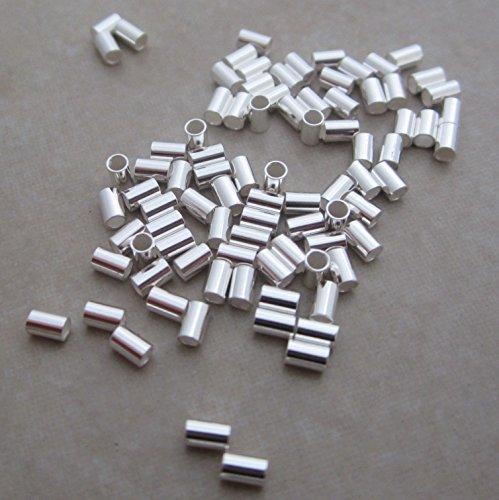 100 Sterling Silver Crimp Beads 3mm X (100 Sterling Silver Crimp)