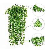 Sutesr 156 Feet 24 Pack Artificial Ivy Leaf, Fake