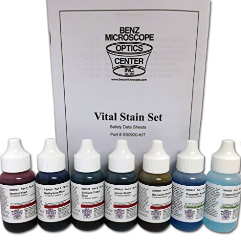 Benz Microscope Slide Stains Vital Stain Kit - 7