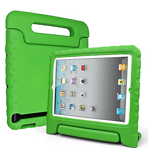 SIMPLEWAY iPad 2 3 4 Kids Case, Light Weight Shock Proof Convertible Protective Carrying Handle Stand Kids Friendly for Apple iPad 2, iPad 3rd generation, iPad 4th generation Tablet, Green