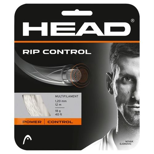 HEAD RIP Control Tennis String Set, 16g, Black - Tennis Racket String