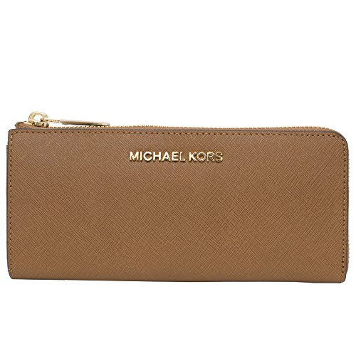 Michael Kors Zip Jet Set Travel Leather Wallet (Luggage) by MICHAEL Michael Kors