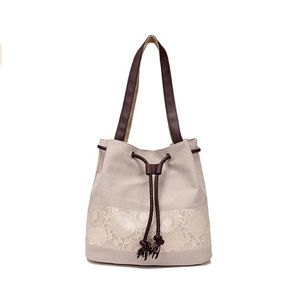 35c83a7b452fc Amazon.com  MOWANG Printing Canvas Shoulder Bag Retro Casual Handbags  Messenger Bags (Beige)  Sports   Outdoors