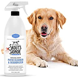 Skout's Honor Professional Strength, All-Natural Pet Patio Cleaner & Deodorizer - Non-Toxic, Biodegradable, and Eco-Friendly - Concrete, Outdoor Stone & Artificial Turf Cleaner - 32-OZ Spray Bottle