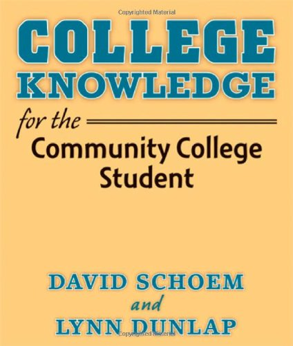 College Knowledge F/Comm.College Stud.