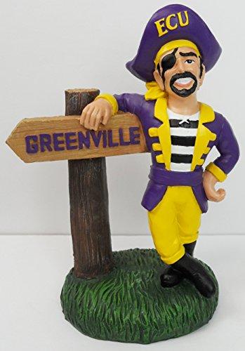 East Carolina Pirates Figurine - EAST CAROLINA ECU PIRATES TABLE TOP MASCOT FIGURINE GREENVILLE 12