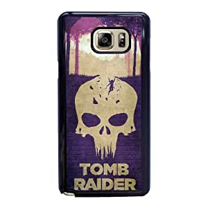 Custom made Case,Tomb Raider Cell Phone Case for Samsung Galaxy Note 5, Black Case With Screen Protector (Tempered Glass) Free S-7301727