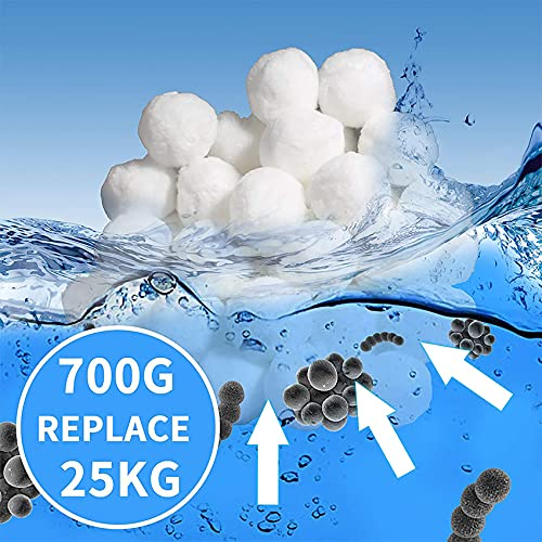 Tee Vee Pool Filter Balls Eco-Friendly Fiber Filter Media 1.5lb for Swimming Pool Sand Filters (Equals 50 lbs Pool Filter Sand)