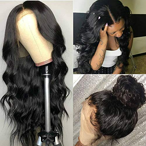 Catti Hair 13x4 Lace Front Wigs Human Hair 18 inch Body Wave Human Hair Wig 150% Density for Black Women Lace Frontal Wigs with Baby Hair Natural Color in USA