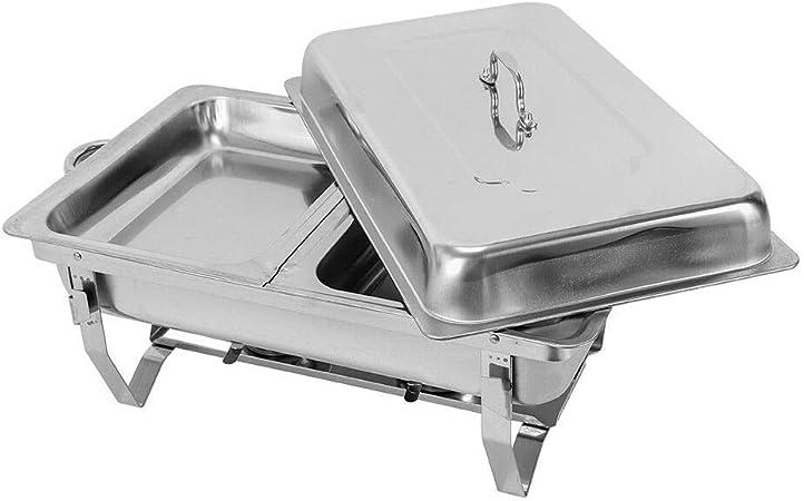 2x Speisenwärmer Chafing Dish Kit Party Buffet Warmhaltebehälter Edelstahl 7.5L