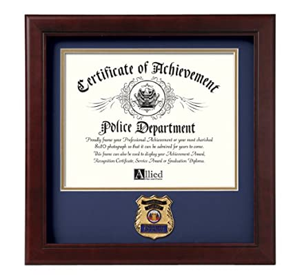 amazon com allied frame police officer certificate of achievement