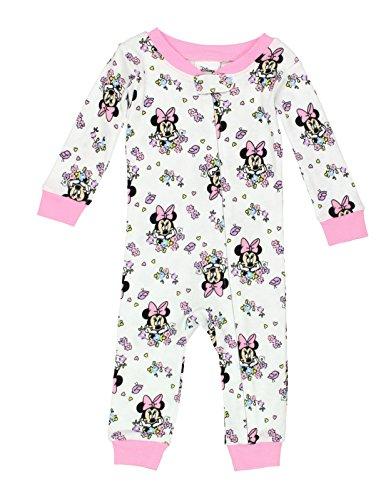 Minnie Mouse Girls Sleeper Pajamas (18 Months, Minnie Flowers (Baby Girls Favorite Cotton)