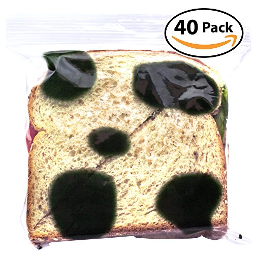Witty Yeti Fake Mold Sandwich Bags 40 Pack to Protect Your Hoagie! Each Anti-Theft, Food-Safe Zipper Bag Looks Moldy to Ward Off Work Fridge Raiders! Hilarious Lunch Prank or Gag - April Hilarious Day Pranks Fools