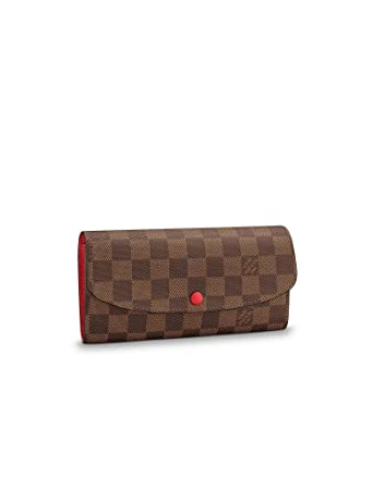309ebb5edbf4d Louis Vuitton Damier Ebene Canvas Emilie Wallet N63544 at Amazon ...