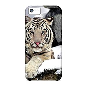 Defender Case With Nice Appearance (graceful White Tiger) For Iphone 5c