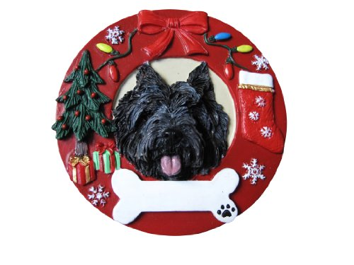 - Cairn Terrier Christmas Ornament Wreath Shaped Easily Personalized Holiday Decoration Unique Cairn Terrier Lover Gifts