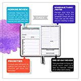 Panda Planner - Daily Planner, Calendar and Gratitude Journal to Increase Productivity, Time Management & Happiness - Hardcover, Undated Day - Quarter Year Planner - Guaranteed (Black)
