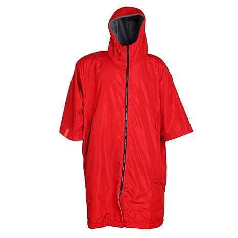 B Baosity Impermeable Chaqueta Resistente al Agua Vestidos Deportes Mujer Hombre Accesorios - Rojo y Plata