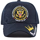 THE HAT DEPOT Exclusive 58th Presidential Inauguration Signature 45th President Cap (Navy)