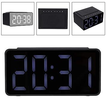 Radio Despertador Digital Portátil, Bluetooth V5.0 4D HiFi ...