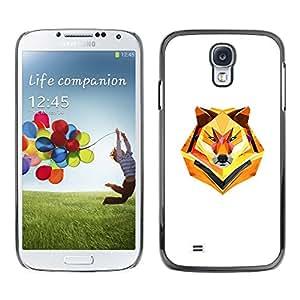 "For Samsung Galaxy S4 , S-type Minimalista Polígono Lobo"" - Arte & diseño plástico duro Fundas Cover Cubre Hard Case Cover"