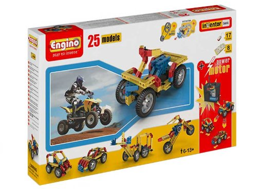 Engino  - 25 Model Construction Set with Motor Construction Kit