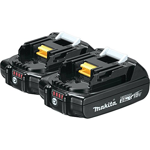 Twin 18v Pack - Makita BL1820B-2 18V Compact Lithium-Ion 2.0Ah Battery Twin Pack