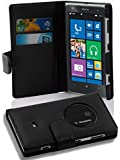 Cadorabo - Book Style Wallet Design for Nokia Lumia 1020 with 2 Card Slots and Money Pouch - Etui Case Cover Protection in OXID-BLACK