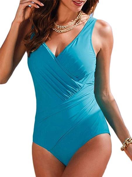 Socluer - Traje de una Pieza - para Mujer Azul Celeste XXX-Large ...