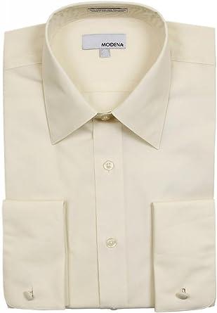 Modena para Hombre sólido Camisa de puño francés – Colores