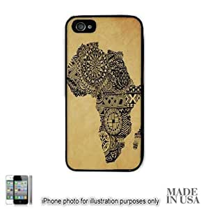Africa African Flag Art Map #2 Design Print by L Kayon iPhone 5 5S Case - BLACK RUBBER Unique Design Gifts