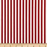 Riley Blake 1/4in Stripes Red Fabric By The Yard
