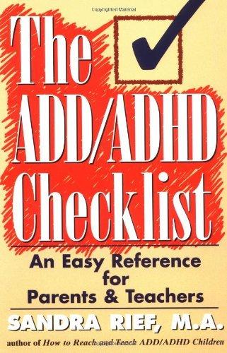 The ADD/ADHD Checklist by Sandra F. Rief (1997-12-15)