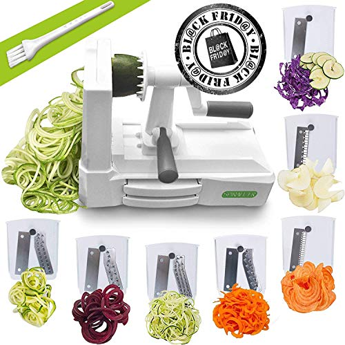 Spiralizer Ultimate 7 Strongest-and-Heaviest Duty Vegetable Slicer Best Veggie Pasta