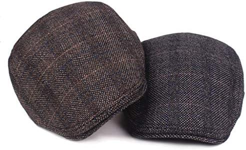 Xubaorsi ハンチング帽子 メンズ ウール 秋冬 防寒 千鳥柄 チェック 紳士帽 ベーシック 帽子 アウトドア ハンチング 56-60 cm スウェット生地 出勤 ゴルフ 調節可能 アウトドア 旅行
