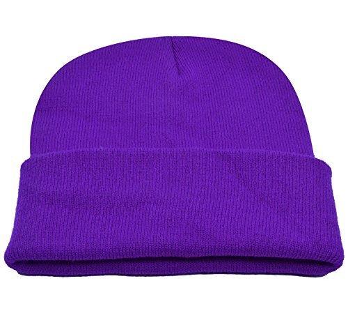 PZLE Skull Cap Purple Mens Knitted Hats Stocking Cap Purple Beanie Purple … - Long Beanie Purple