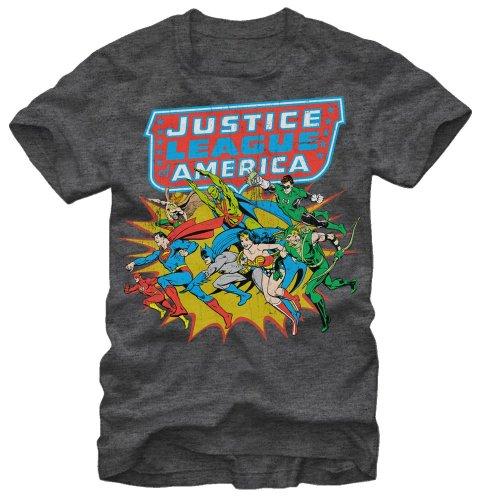 Hot Buckles Men's DC Comics Justice League America T-Shirt (S)