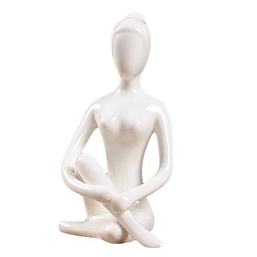 D DOLITY cerámica Yoga Figura, color blanco, cerámica, 05 ...
