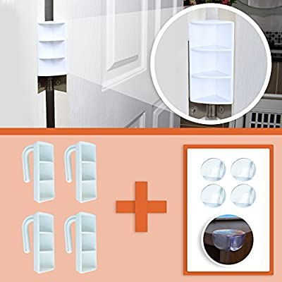 4 Anti Pinch Finger Saver & 4 Corner Softies   Door Stopper prevents Finger Pinch Injuries, Slamming Doors, and Toddlers or Pets from getting Locked in Rooms   Childproofing made easy