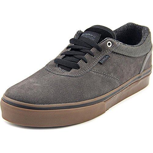 C1RCA Men's Gravette Skateboarding Shoe, Gunmetal/Gum, 6 M US