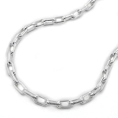 b7897744c8ba Unbespielt Kette Halskette Silberkette 925 Silber Damen Ankerkette für  Frauen Breite 3,4 mm Kettenlänge 42 cm Anhängerkette  Amazon.de  Schmuck